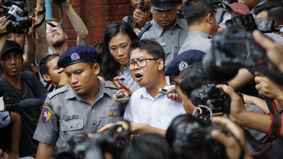 50 års tal till hustru Reutersjournalister dömdes till sju års fängelse i Myanmar  50 års tal till hustru