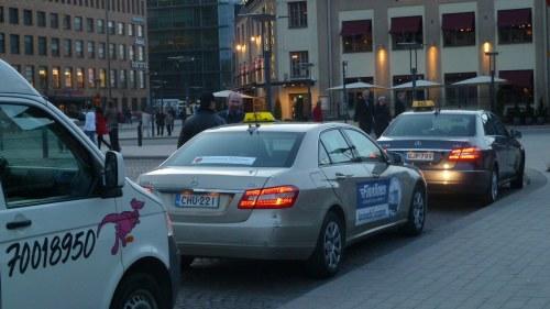Uber chaufforer och passagerare i slagsmal