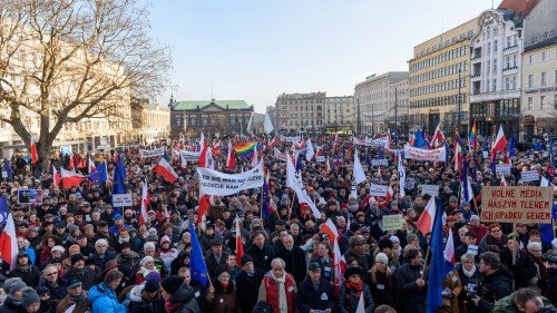 Protest mot medielagar i ryssland
