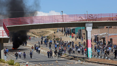 Polis dodade strejkande gruvarbetare