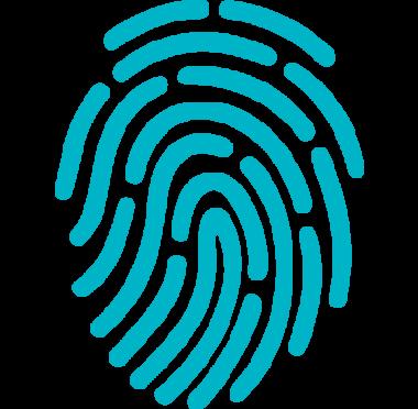 Symbolbild på ett fingeravtryck.
