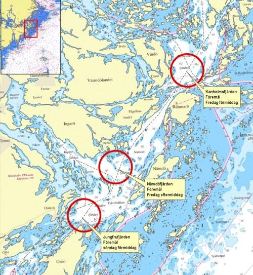 nämdöfjärden karta Ubåtar kan gömma sig bara några dagar