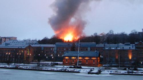 Butiksbrand troligen anlagd