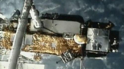 Da nar stortande rysk rymdfarkost jorden