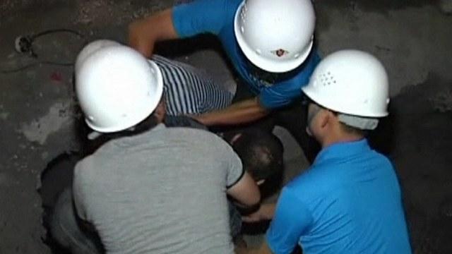 Kinesiska gruvarbetare instangda i kolgruva