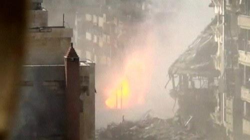 Explosioner och strider i kabul