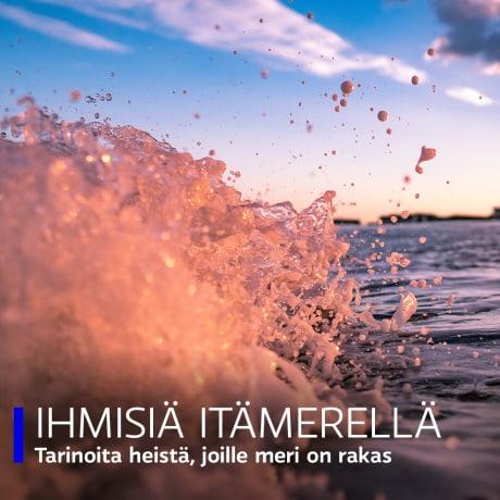 Ihmisiä Itämerellä