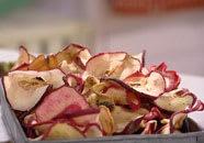 Torkade äppelskivor
