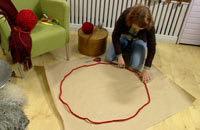 Garncirkel för att se dimensionerna