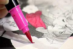 Kopiera och färglägg bitar ur mangaserie