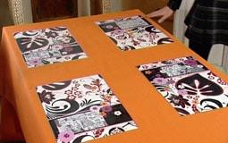 Bordstabletter med inspiration av japanska manga serier