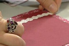 Dekorera med pappersspets