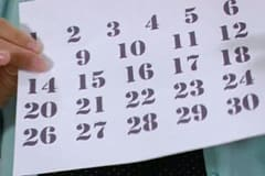 Skriv först datumen på dator och printa ut