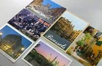 Sex stycken vykort