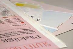 Riv ut sidor i matchande färg