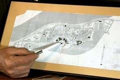 Planritning på rekreationsparken i Bagdad