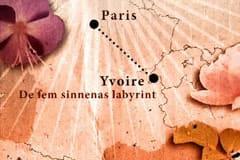 De fem sinnenas trädgård på kartan