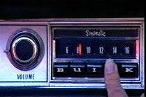 Originalradion på plats och i funktion