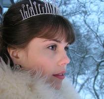 Bruden med tiara
