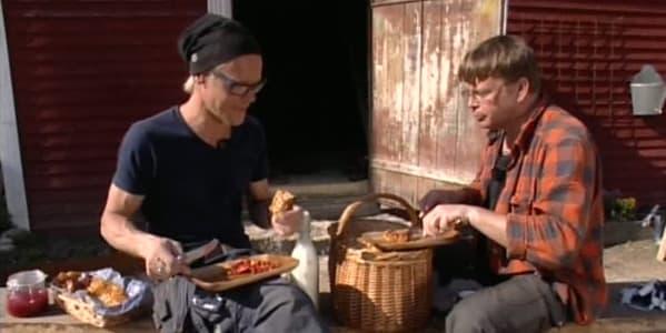Jim och Johan pausar med våfflor