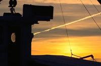Solnedgång från första parkett