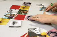 Komponera lapptäcket av bilder