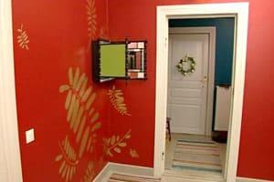 Väggmålning i hall