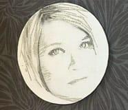Runt porträtt nr. 1