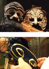 Venetianska masker och en 1700-talsmask