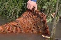Fisknätskorg av slanor