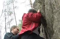 Den här stenen blev lite väl svår för Elisabeth