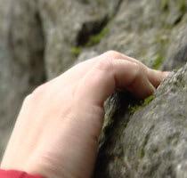 God teknik och starka nypor krävs för den som vill behärska bouldering