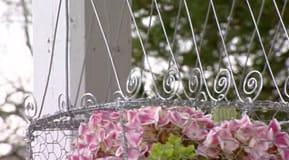 Fågelbur för blomster