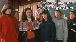 Elever från Nordsjö lågstadium på 1980-talet