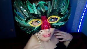ann-catrin granroth med mask