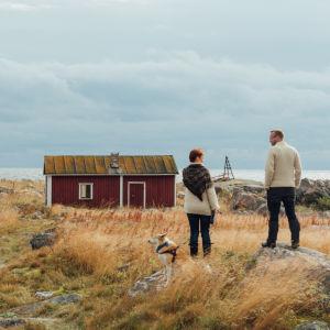 Antti ja Reetta Ulkokallalla.