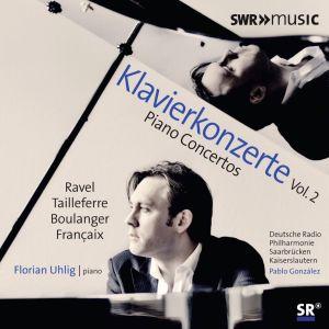 Pianokonserttolevy, jolla soittaa Florian Uhlig. Kansikuva.