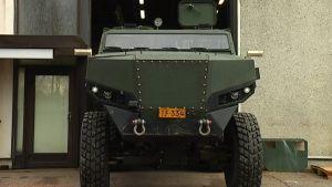 Protolabs nya fordon i hallen i Pojo.