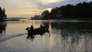 Vene on olennainen osa maisemaa.