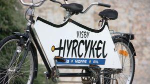 Polkupyörävuokraamon mainos