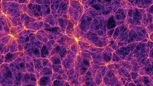 Galaxkluster i stor skala.