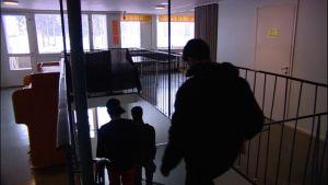 Människor i trappa