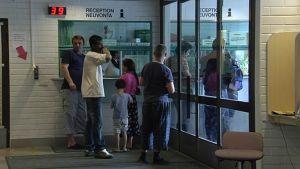 Asylsökande i kö