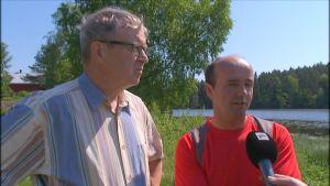 Ola Österblad och Peter Back från föreningen Iskmosunden.