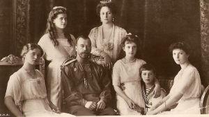 Nikolai II perheineen, valokuva