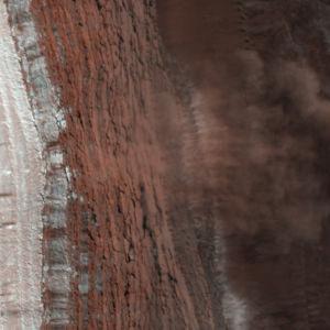 Marslandskap sett från ovan.