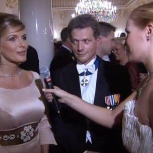Kihlapari Tanja Karpela ja Sauli Niinistö Linnan juhlissa 2003