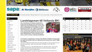 Nyheten om Tomi Hauska på Vetlandas webbplats