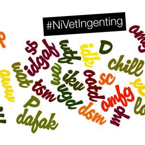 ordlista för sociala medier med #nivetingenting-stämpel