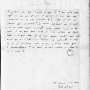 Ranskalaisen protestanttien suojelijan, Renée de Francen kirje keisari Kaarle V:lle (1528-1534). Kuva: Outi Merisalo